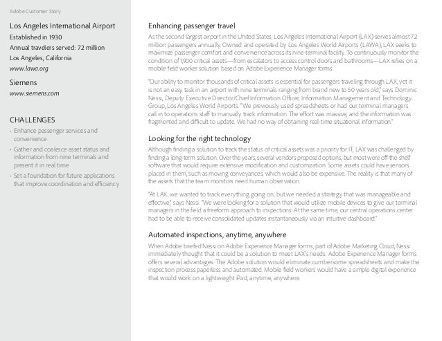 Adobe Customer Story Enhancing passenger travel As the second largest airport in the United States, Los Angeles Internatio...