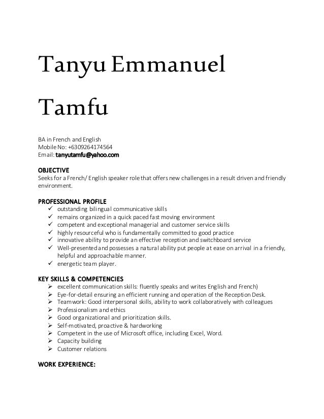 amazing where do you put bilingual on a resume contemporary