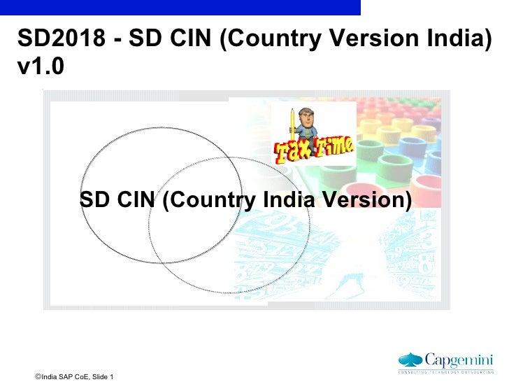 SD2018 - SD CIN (Country Version India) v1.0 SD CIN (Country India Version)