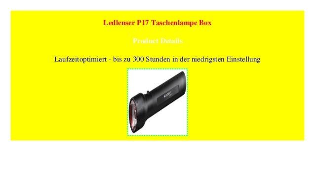 Ledlenser P17 Taschenlampe Box