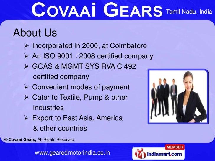 Geared Motor by Covaai Gears Coimbatore Slide 2