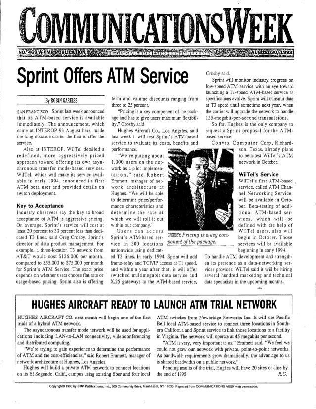 Crosby Sprint ATM Profile