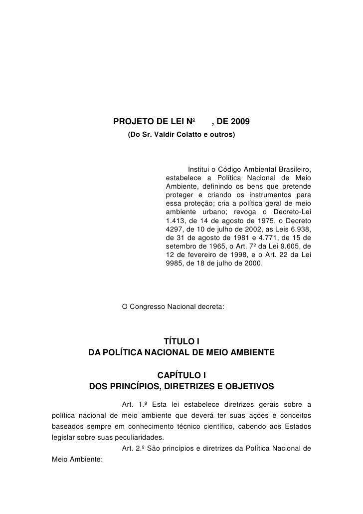 Projeto de Lei 5.367/2009