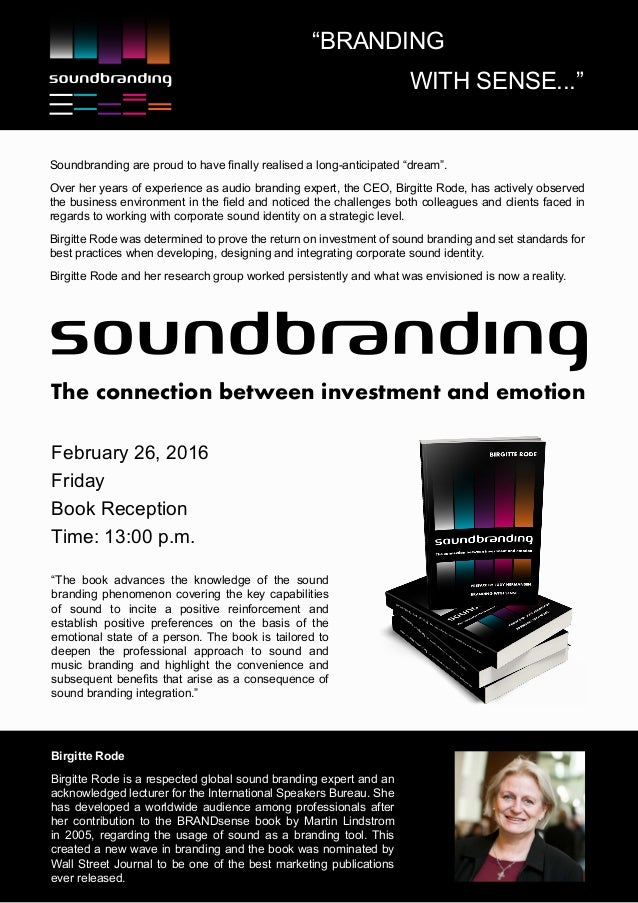 Soundbranding - the connection between investment and emotion A4