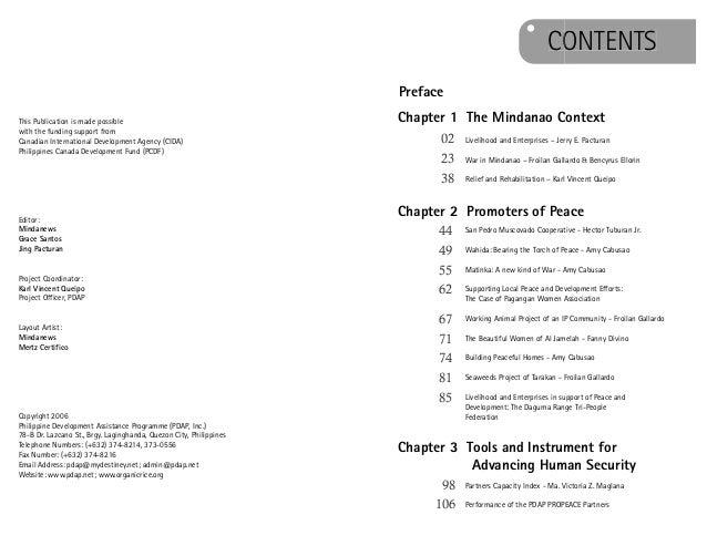 pdap propeace book on mindanao