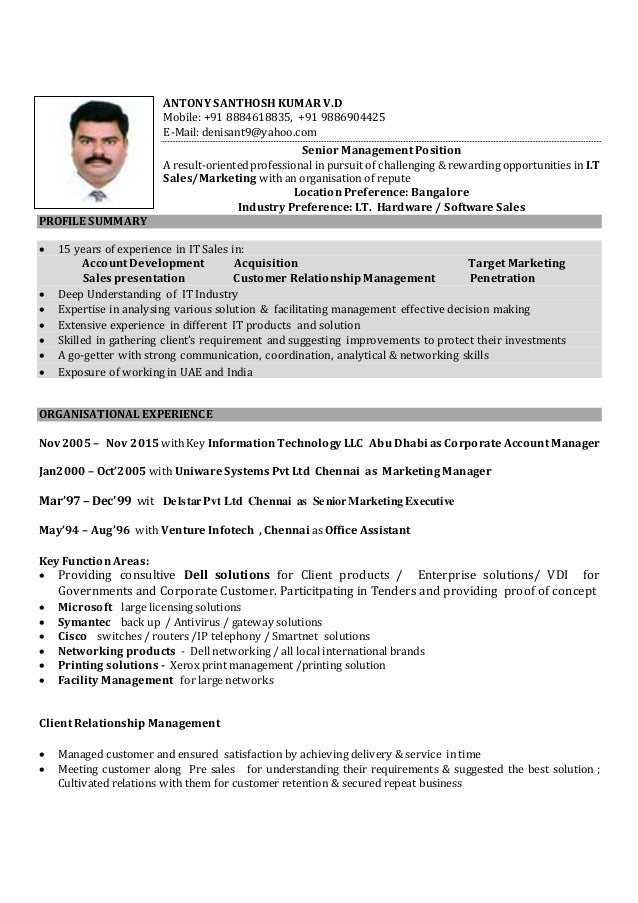Resume - ASkumar IT 15 years experiance (1)