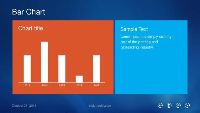 Bar Chart  slidemodel.com  2013  2014  2015  2016  2017  October 28, 2014  Lorem Ipsumis simply dummy text of the printing...
