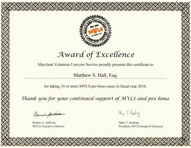 Scanned Certificate Of Excellence