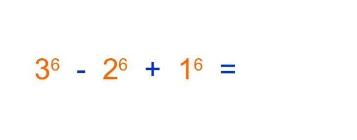 3 6   -   2 6   +   1 6   =