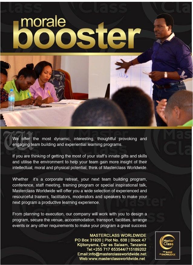 Masterclass Worldwide-Team Building Flyer
