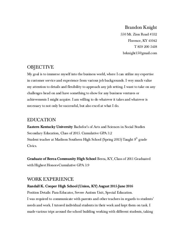 cumulative gpa resume
