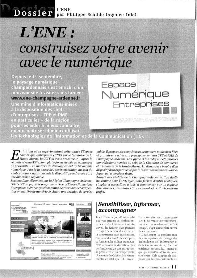 Dossier - Espace Numérique Entreprises, Challenges Haute-Marne