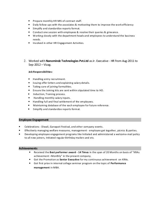 Beste Mba Fortsetzungsformat Fotos - Entry Level Resume Vorlagen ...