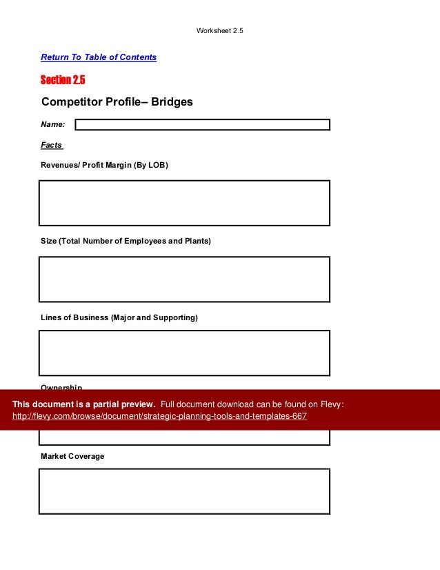 strategic planning tools and templates