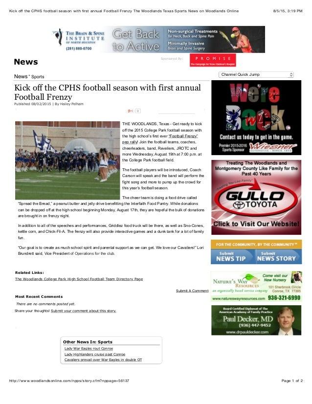 Kick off the CPHS football season with first annual Football