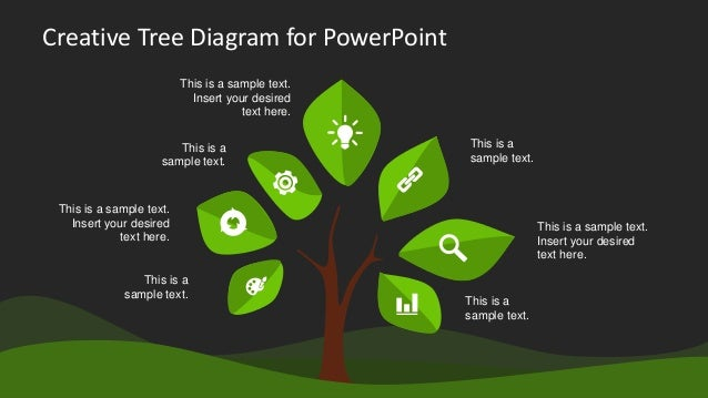 Tree Chart PowerPoint Templates And PoweredTemplate Mandegarinfo - Luxury powerpoint tree diagram design