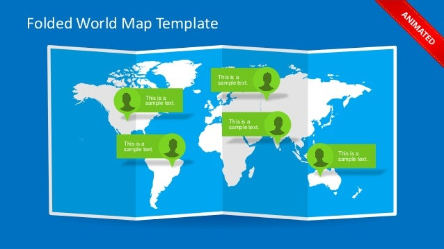 Slidemodel Animated Folded World Map Template For Powerpoint