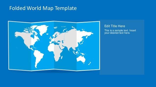 Slidemodel animated folded world map template for powerpoint 11 folded world map gumiabroncs Choice Image