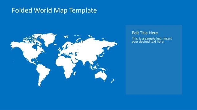 slidemodel com animated folded world map template for powerpoint