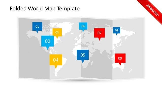 Folded World Map Template  06  03  07  01  02  09  05  04  08