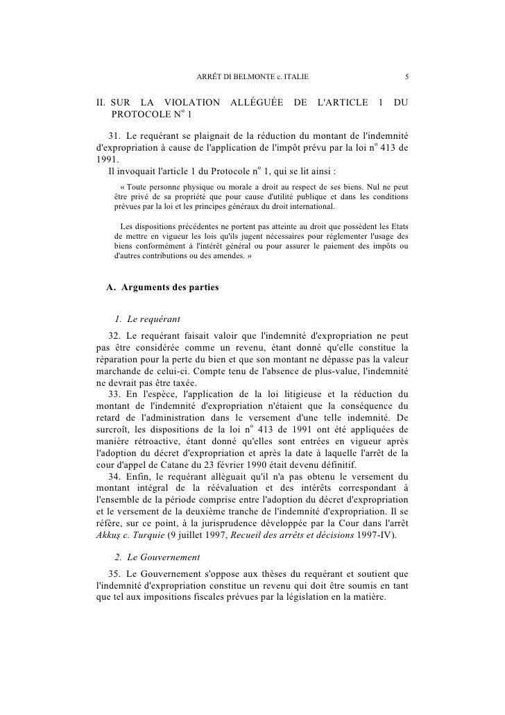 6                        ARRÊT DI BELMONTE c. ITALIE    36. Sagissant de la prétendue rétroactivité de la loi no 413 de 19...