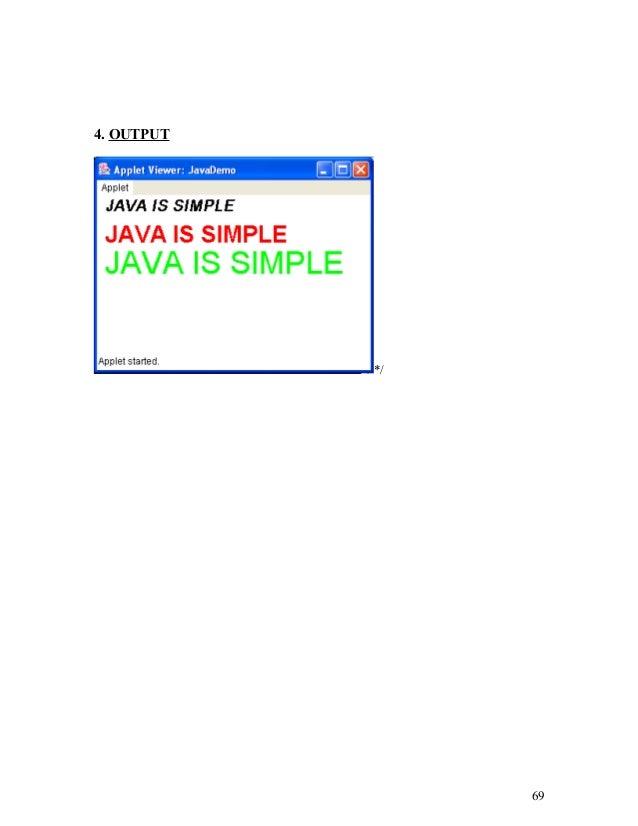 Dda Line Drawing Algorithm Java Applet : Java lab manual