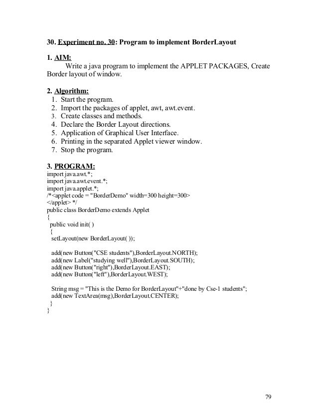 Java Programming Lab Manual with Study Guide
