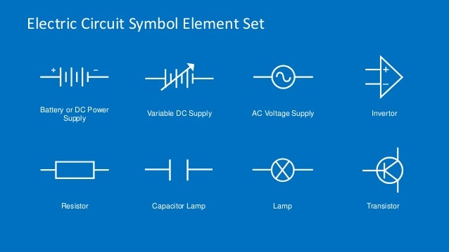 Electric Circuit Symbols Element Set For Powerpoint Slidemodel on electric lamp