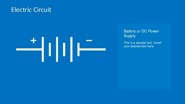 Electric Circuit Symbols Element Set for PowerPoint - SlideModel