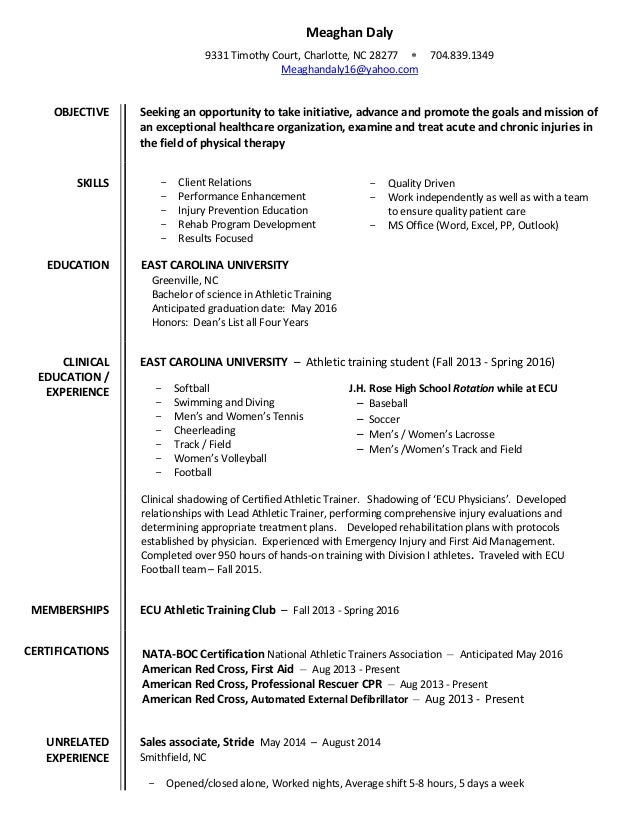 Meaghan Daly Resume