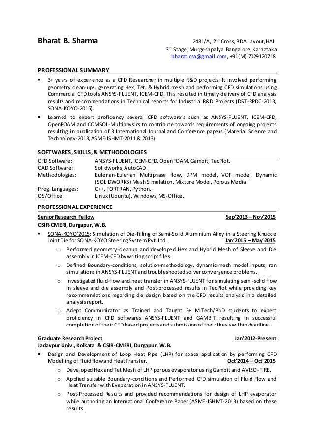 model resume for engineer