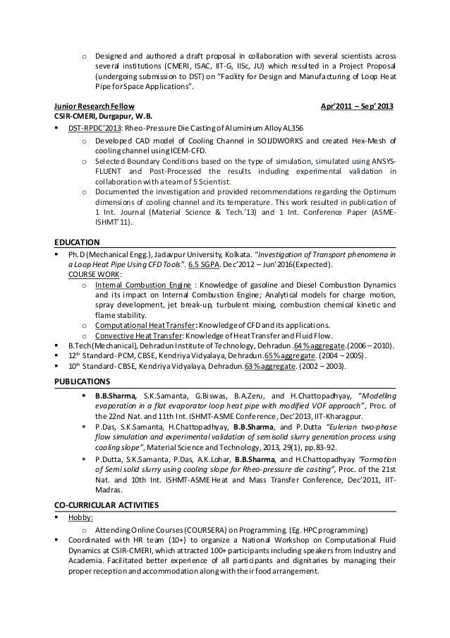linkedin resume cfd engineer