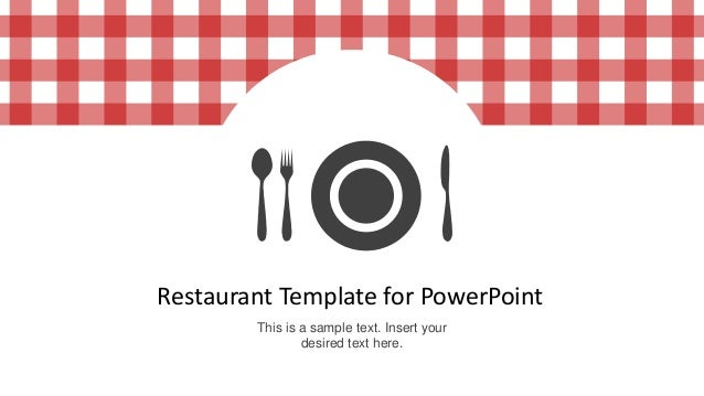 restaurant menu template for powerpoint, Modern powerpoint
