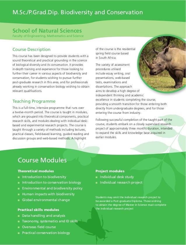 TCD - MScPGradDip Biodiversity and Conservation