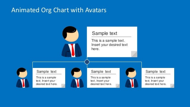 Animated Org Chart Powerpoint Template