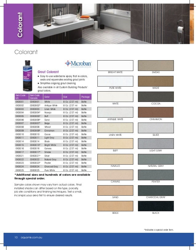 Beautiful Grout Coloring Products Ideas - Style and Ideas ...