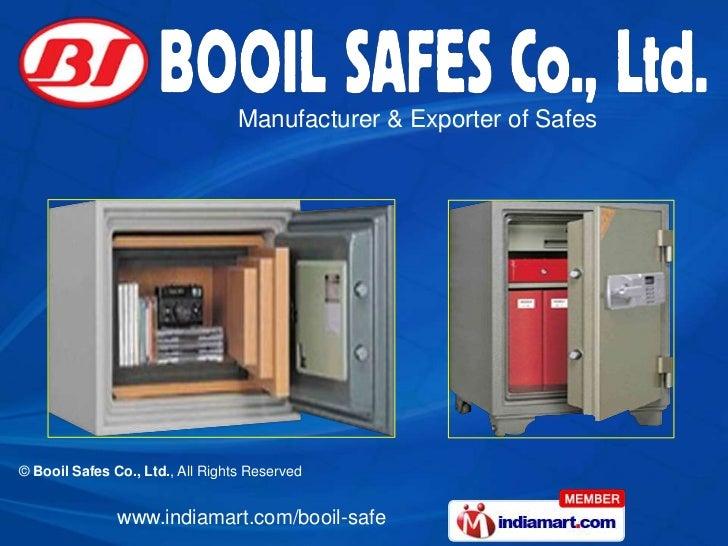 Manufacturer & Exporter of Safes© Booil Safes Co., Ltd., All Rights Reserved               www.indiamart.com/booil-safe
