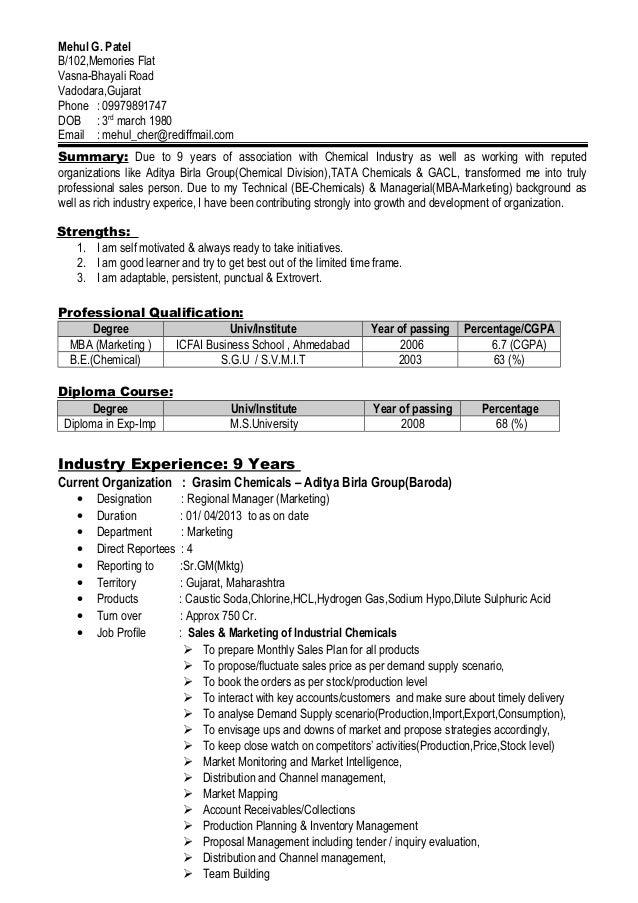 mehul patel resume