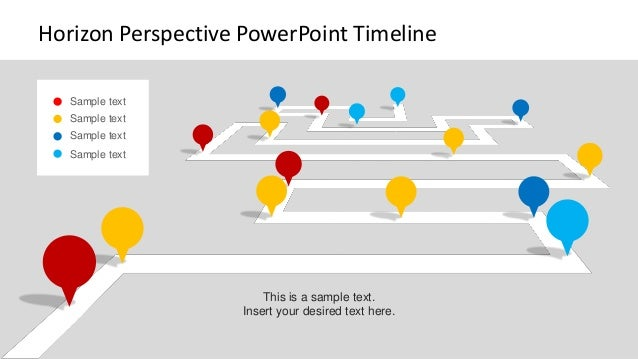 slidemodel horizon perspective powerpoint timeline