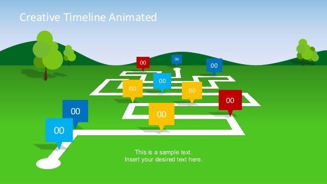 slidemodel animated landscape powerpoint timeline