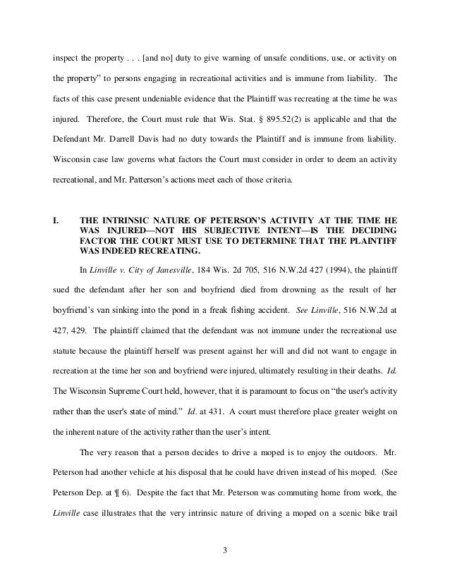 Sample trial brief