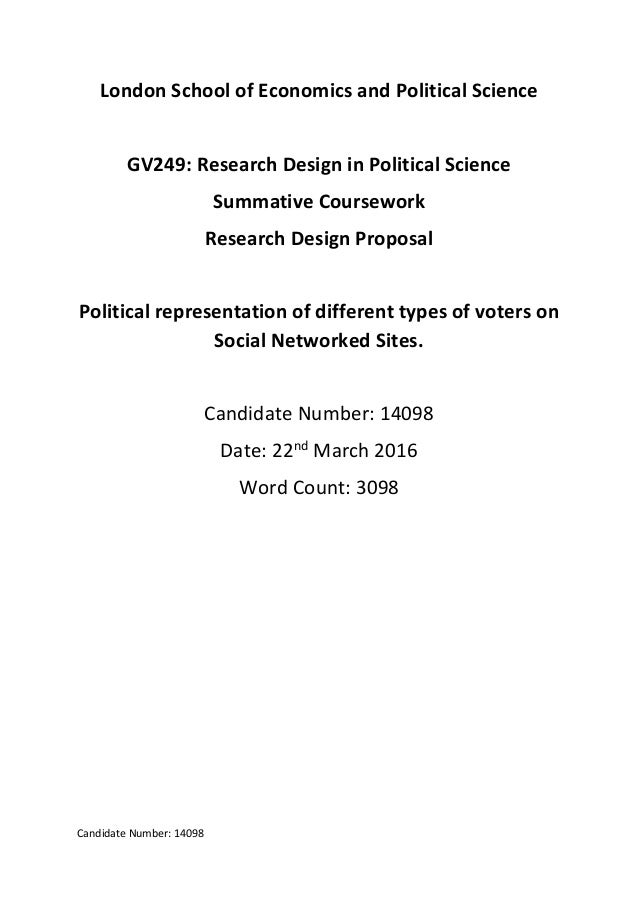 Research Proposal Political Representation Of Different Types Of Vo