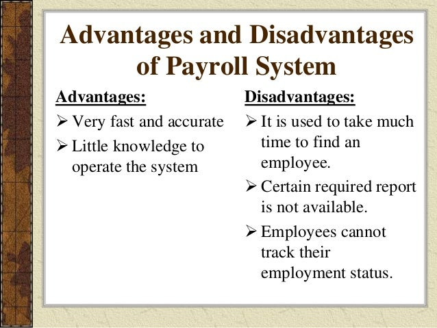 The Disadvantages of a Payroll System