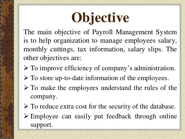 final presentation on payroll management system for hcl technologies