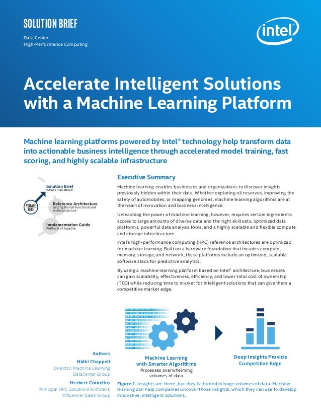 Authors Nidhi Chappell Director, Machine Learning Datacenter Group Herbert Cornelius Principal HPC Solutions Architect, In...