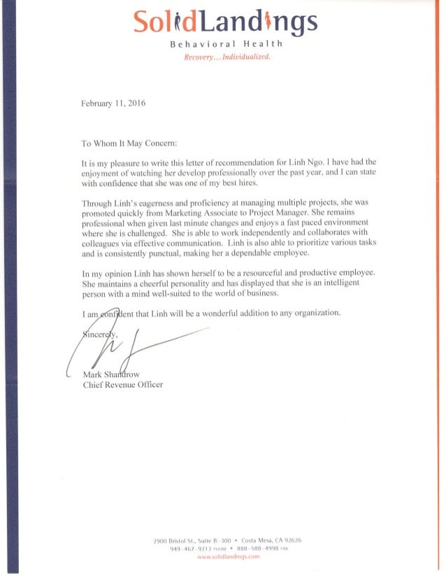 Sample Of Personal Presentation Letter