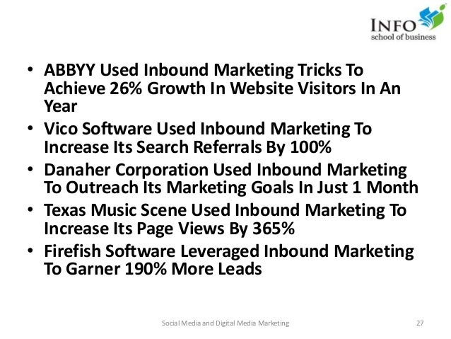 • ABBYY Used Inbound Marketing Tricks To Achieve 26% Growth In Website Visitors In An Year • Vico Software Used Inbound Ma...