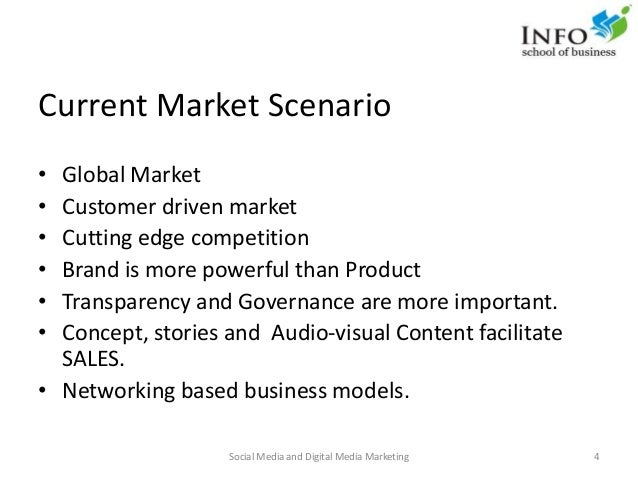 Current Market Scenario • Global Market • Customer driven market • Cutting edge competition • Brand is more powerful than ...