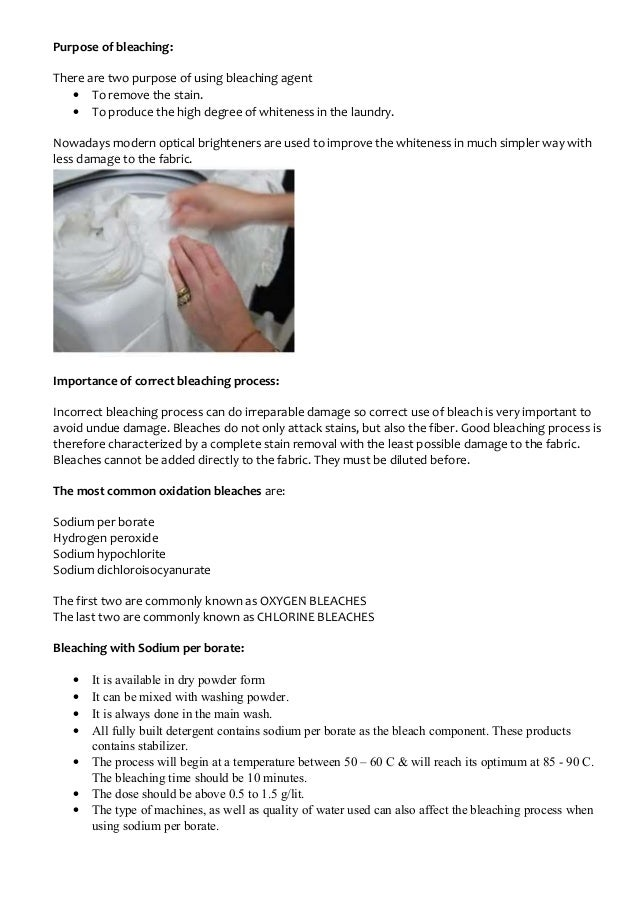 Perborate Bleach Nylon Melts