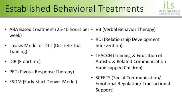 EFFECTIVE THERAPEUTIC ENHANCEMENTS TO ABA